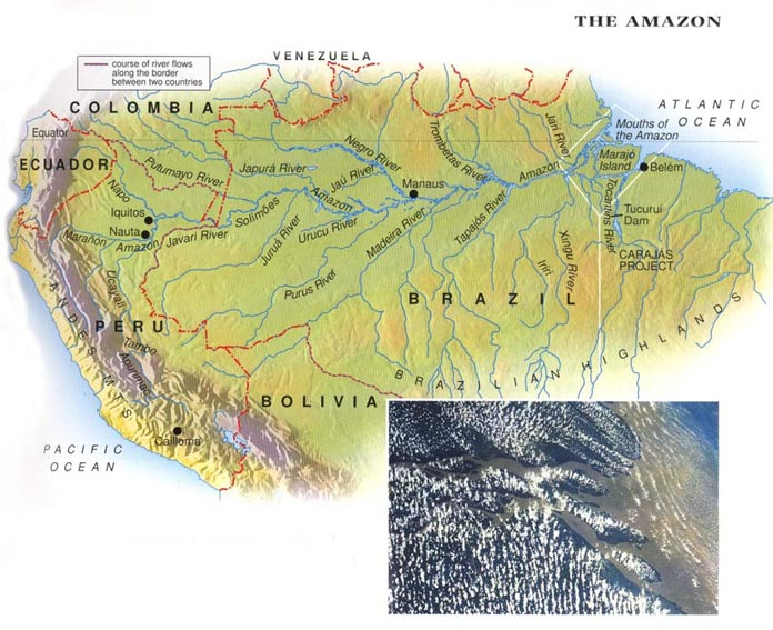 Maps of The Amazon River