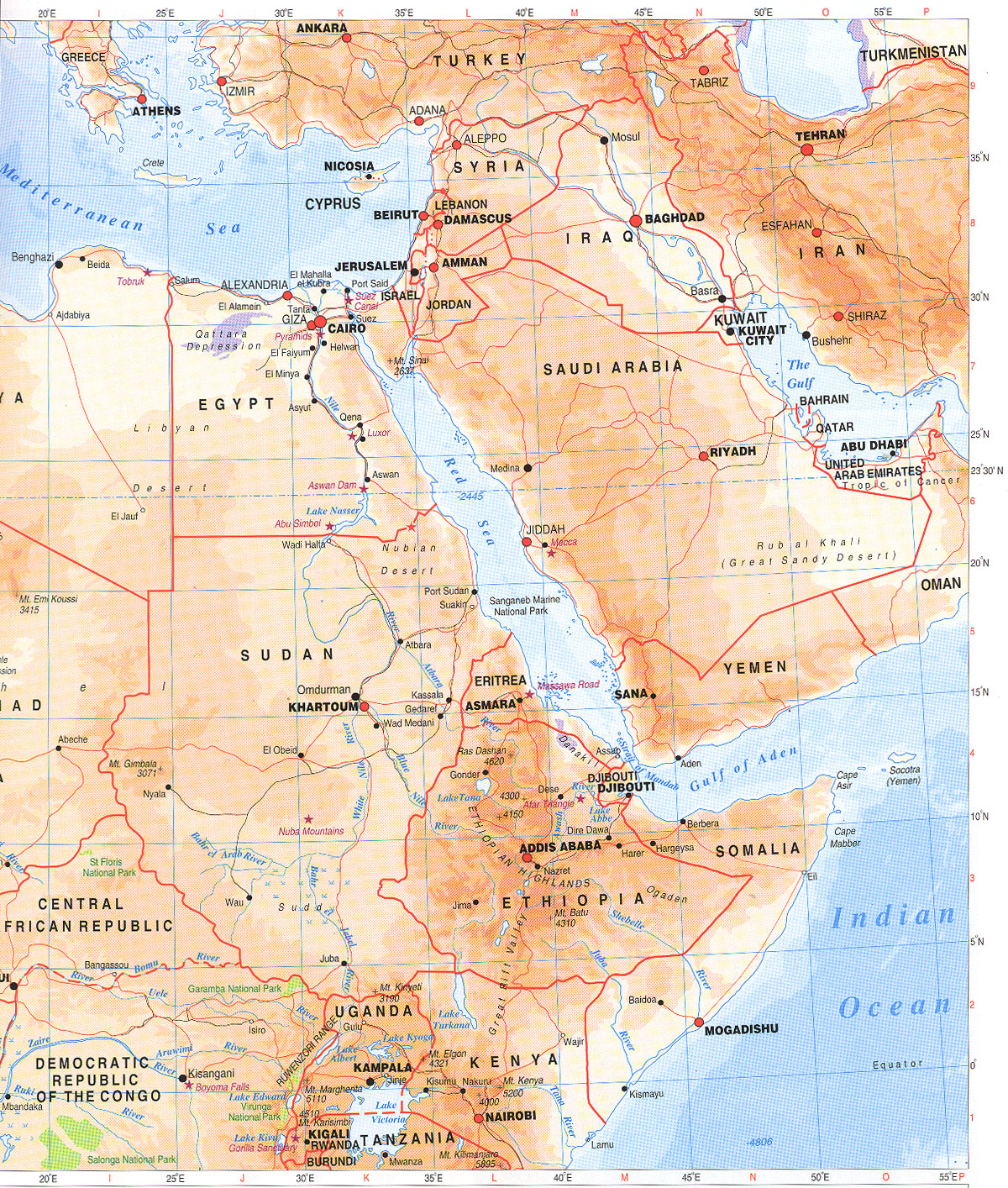 Maps of the Nile